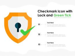 Checkmark Icon With Lock And Green Tick