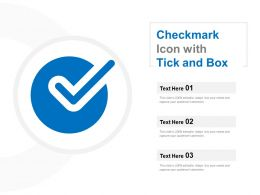 Checkmark Icon With Tick And Box