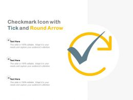 Checkmark Icon With Tick And Round Arrow
