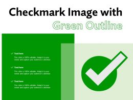 Checkmark Image With Green Outline