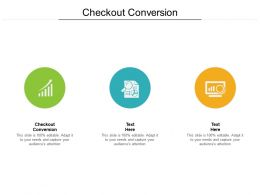 Checkout Conversion Ppt Powerpoint Presentation Outline Skills Cpb