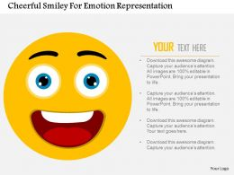 Cheerful Smiley For Emotion Representation Flat Powerpoint Design