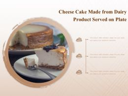 Cheese Cake Made From Dairy Product Served On Plate