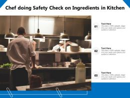 Chef Doing Safety Check On Ingredients In Kitchen