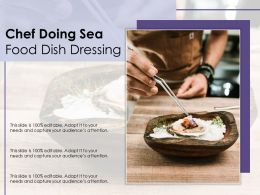 Chef Doing Sea Food Dish Dressing