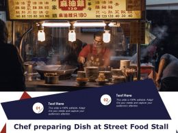 Chef Preparing Dish At Street Food Stall