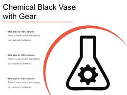 Chemical Black Vase With Gear