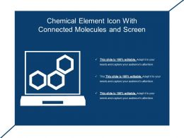 Chemical Element Icon With Connected Molecules And Screen