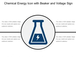 Chemical Energy Icon With Beaker And Voltage Sign