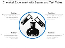 Chemical Experiment With Beaker And Test Tubes