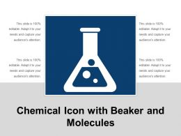 Chemical Icon With Beaker And Molecules