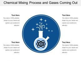 Chemical Mixing Process And Gases Coming Out