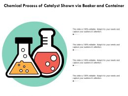 Chemical Process Of Catalyst Shown Via Beaker And Container