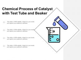 Chemical Process Of Catalyst With Test Tube And Beaker