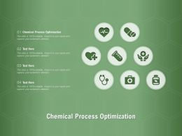 Chemical Process Optimization Ppt Powerpoint Presentation Show