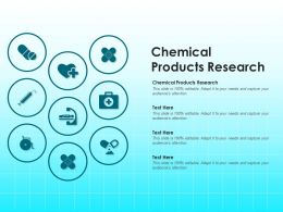 Chemical Products Research Ppt Powerpoint Presentation Summary Show