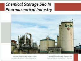 Chemical Storage Silo In Pharmaceutical Industry