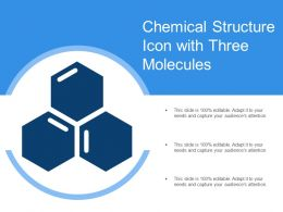 Chemical Structure Icon With Three Molecules