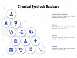 Chemical Synthesis Database Ppt Powerpoint Presentation Styles Sample