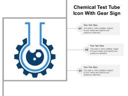 Chemical Test Tube Icon With Gear Sign