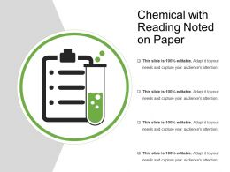 Chemical With Reading Noted On Paper