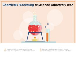 Chemicals Processing At Science Laboratory Icon