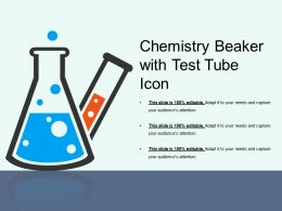 Chemistry Beaker With Test Tube Icon
