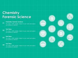 Chemistry Forensic Science Ppt Powerpoint Presentation Portfolio Layout Ideas