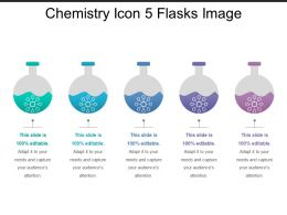 Chemistry Icon 5 Flasks Image