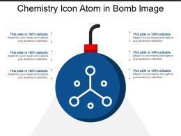 Chemistry Icon Atom In Bomb Image