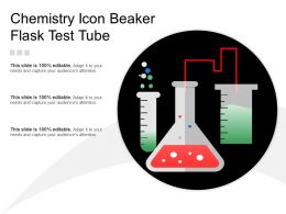 Chemistry Icon Beaker Flask Test Tube