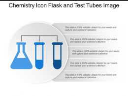 Chemistry Icon Flask And Test Tubes Image