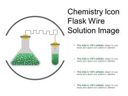 Chemistry Icon Flask Wire Solution Image