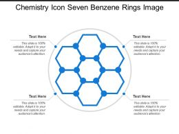 Chemistry Icon Seven Benzene Rings Image