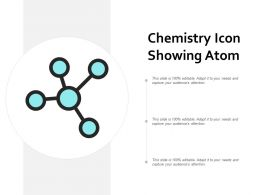 Chemistry Icon Showing Atom