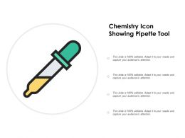 Chemistry Icon Showing Pipette Tool