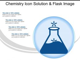 Chemistry Icon Solution And Flask Image