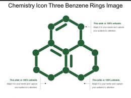 Chemistry Icon Three Benzene Rings Image