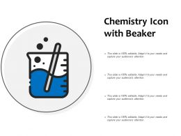 Chemistry Icon With Beaker