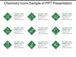 Chemistry Icons Sample Of Ppt Presentation