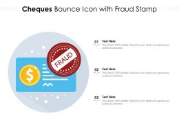 Cheques Bounce Icon With Fraud Stamp