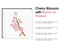 Cherry Blossom With Bunch Of Flowers