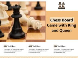 Chess Board Game With King And Queen