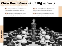 Chess Board Game With King At Centre