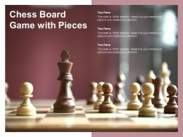 Chess Board Game With Pieces