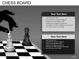 Chess Board Powerpoint Presentation Slides DB