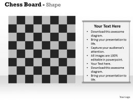 Chess Board Shape Powerpoint Template Slide