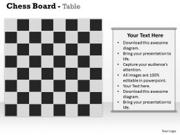Chess Board Table Powerpoint Template Slide