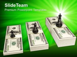 Chess Figures On Dollar Notes Business Powerpoint Templates Ppt Themes And Graphics