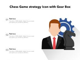 Chess Game Strategy Icon With Gear Box